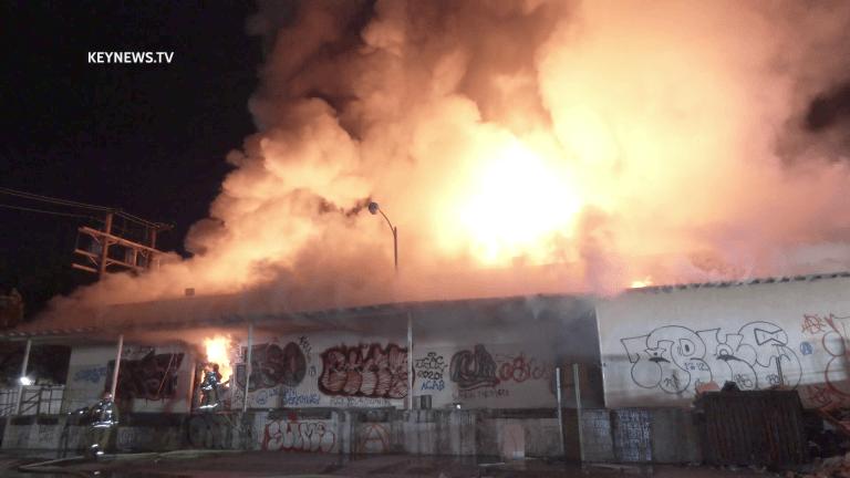 Firefighters Battle Major Emergency Sun Valley Structure Fire