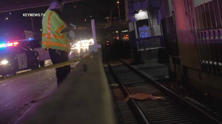 Pedestrian Fatally Struck by Vehicle on 210 Freeway, Then Train After Landing on Tracks