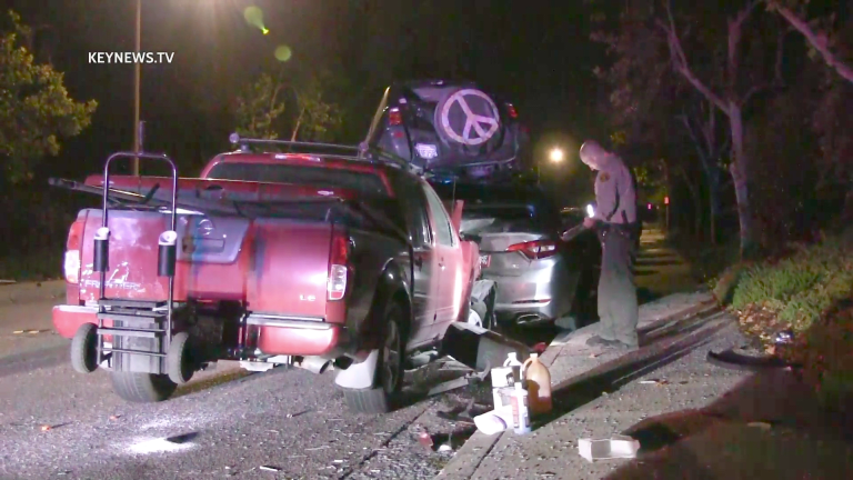 Hit-and-Run Driver Crashes into Multiple Parked Vehicles