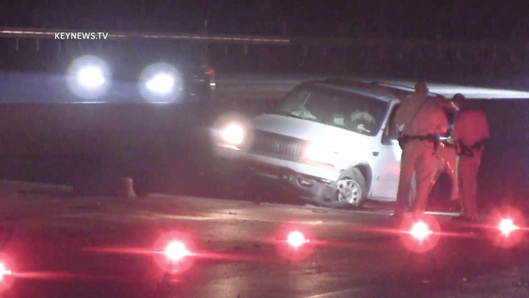Driver Ejected from SUV After Collision on 14 Freeway