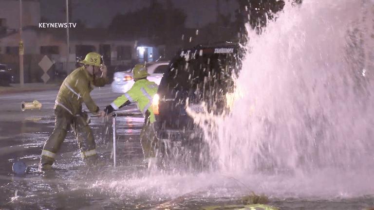 Vermont-Slauson Hit-and-Run Hydrant Crash