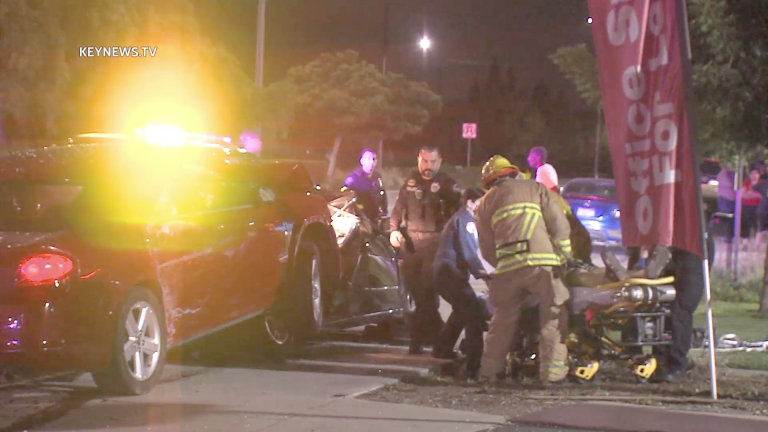 1 Person Trapped After 2-Vehicle Collision in Montclair