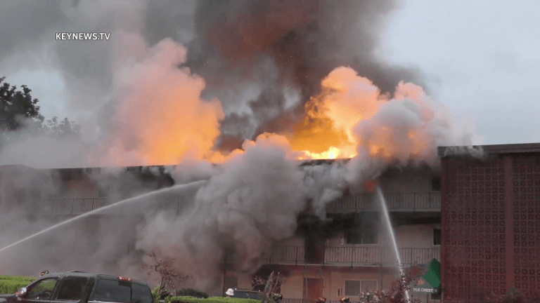 Early Morning Fire Destroys Apartment Complex in Tukwila