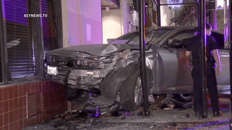 Highland Park Pursued Vehicle Evades Police Then Crashes into Building