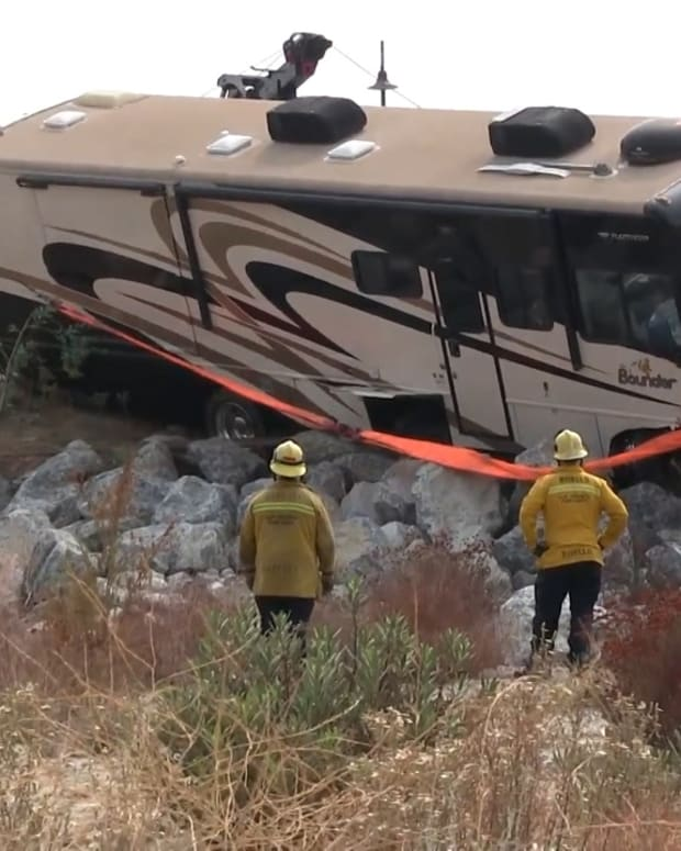 1 Fatality After RV Lands in Santa Clara Riverbed