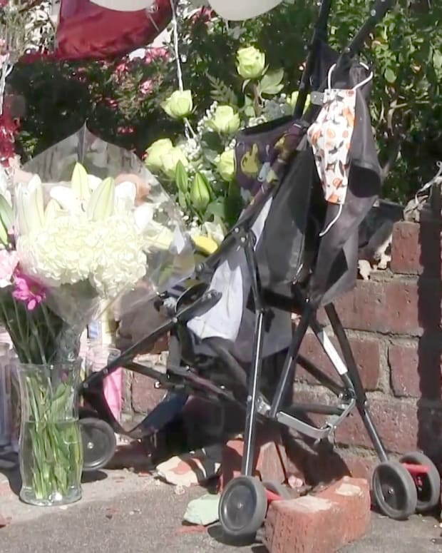Makeshift Memorial for Toddler Struck and Killed by Vehicle