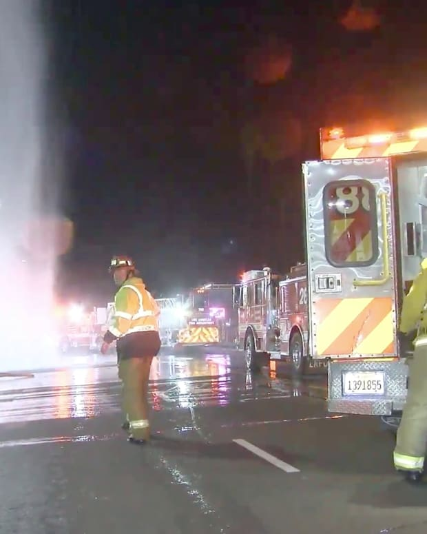 Firefighters Assist Occupant of Vehicle After Collision into Fire Hydrant