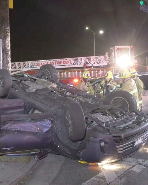 East Hollywood Rollover Collision