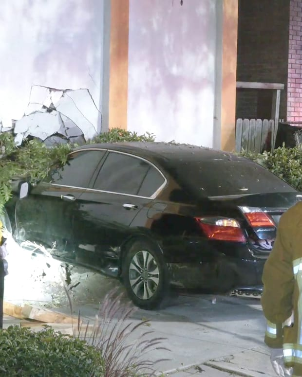 Vehicle into motel in Eagle Rock