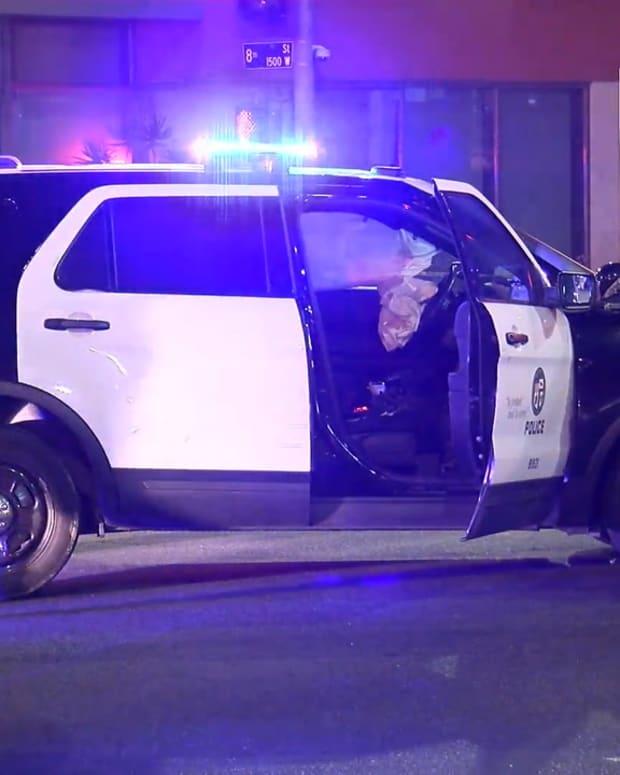 Westlake LAPD Involved Crash