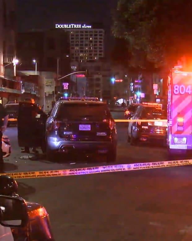 DTLA LAPD Motor Officer Hit