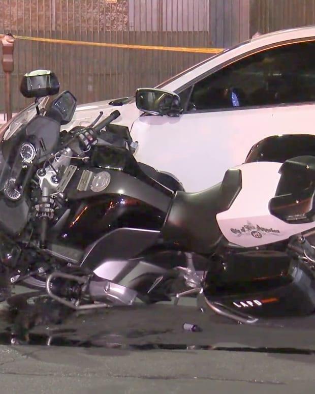 Motor Officer Struck by Vehicle DTLA