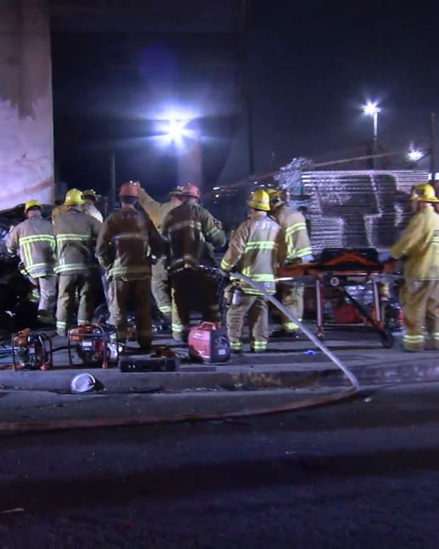 Vehicle Falls From I-10 Freeway