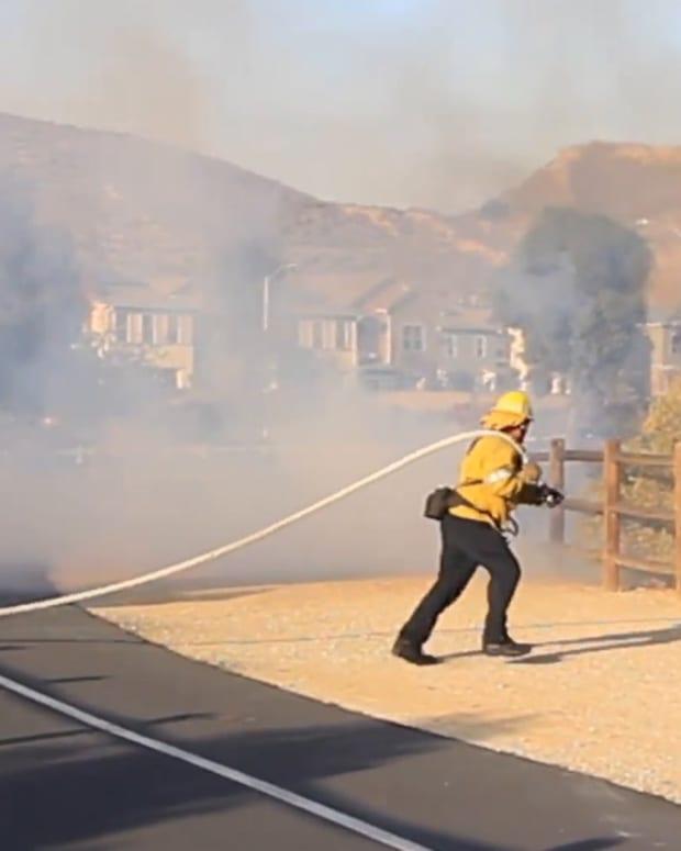 Brush Fire in Santa Clarita