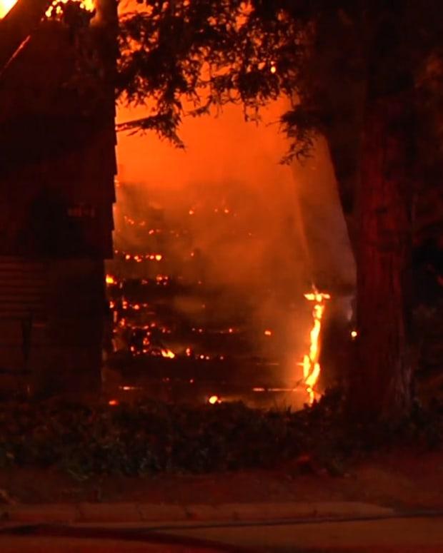 Modesto Condo Complex Fire at Scenic Drive and Rose