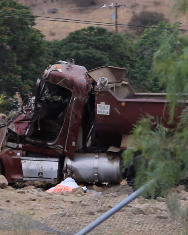 Gravel Truck Fatal Crash in Castaic