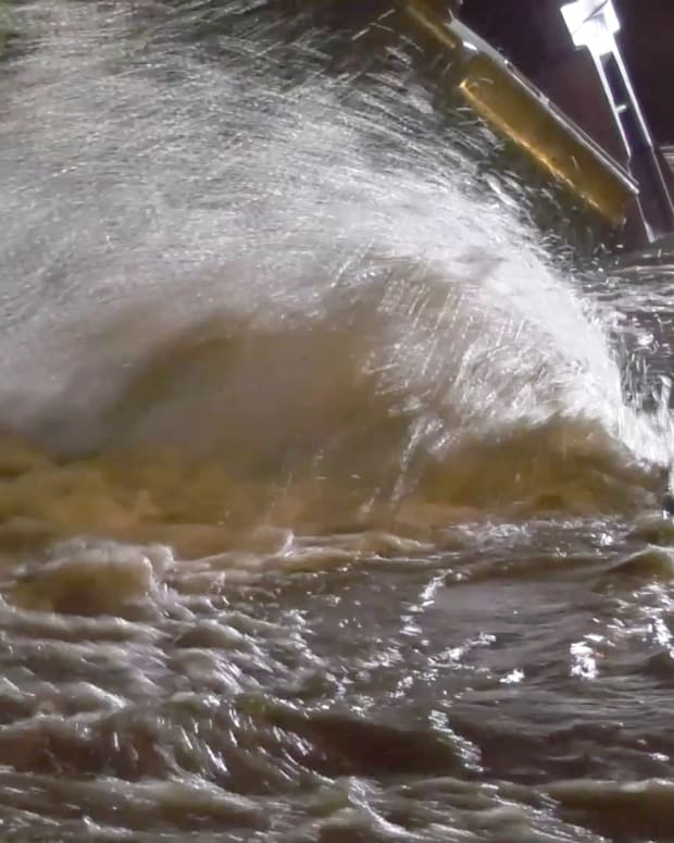 Water Main Break in Sherman Oaks