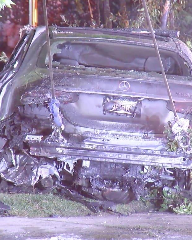 Fiery Crash into Hancock Park Garage