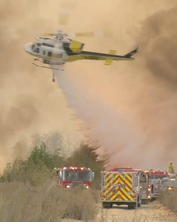 Firefighters Battle Santa Fe Brush Fire