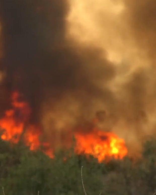 Santa Fe Dam Brush Fire