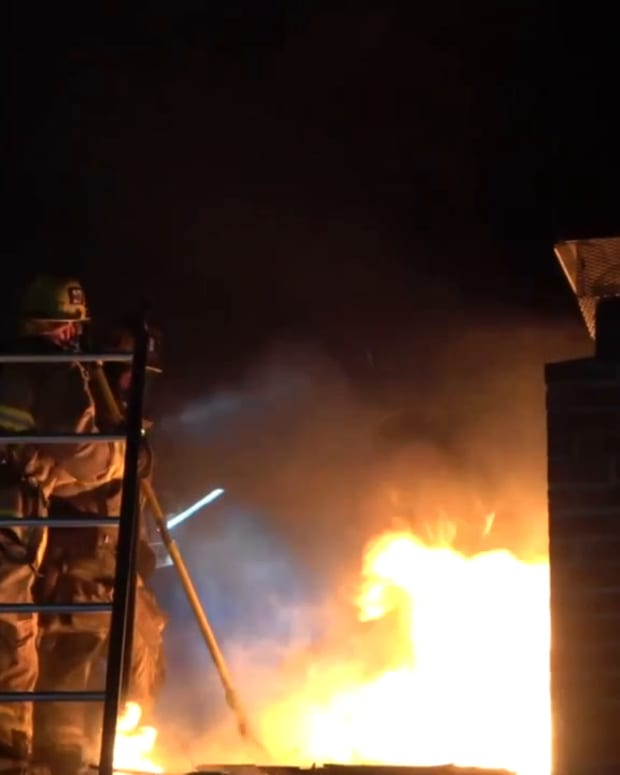Long Beach Structure Fire, 1 Resident Treated for Smoke Inhalation