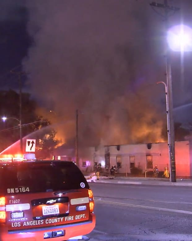 Commercial Fire in Vernon
