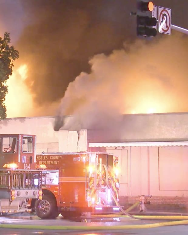 Firefighters Battle Structure Fire in Vernon