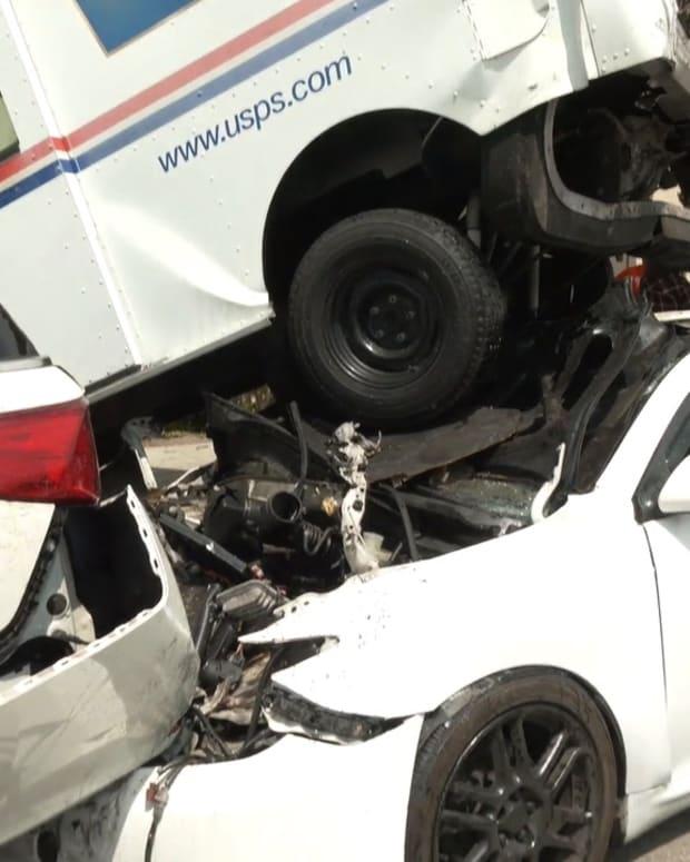 USPS Truck Crash in Valley Village