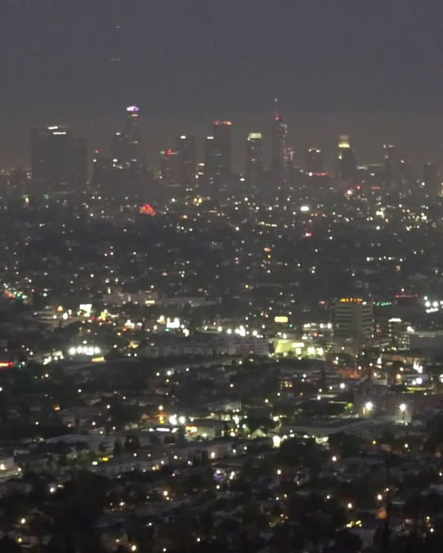July 4th Fireworks over Los Angeles
