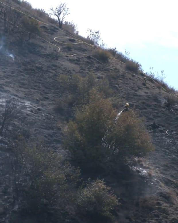 Brush Fire Near Pyramid Lake