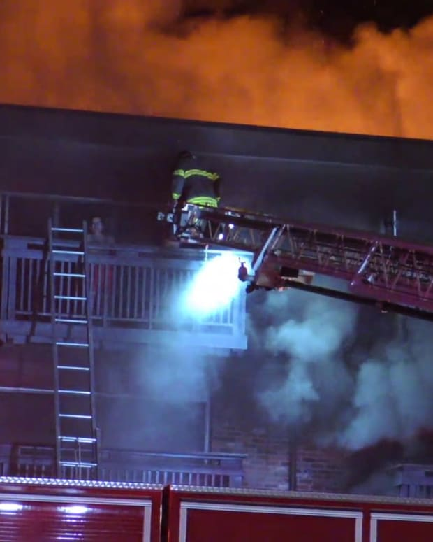 Residents Rescued from Balconies of Burning Apartment Building in Seatac