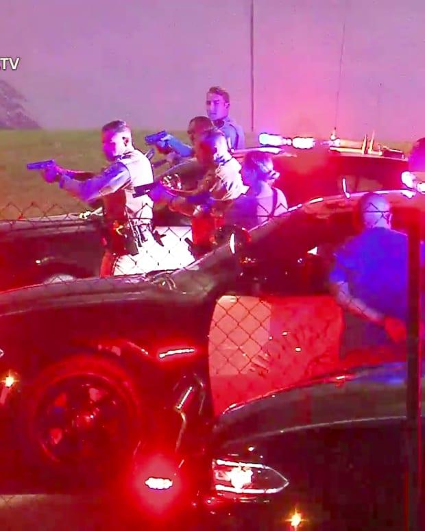 Man Arrested After Pomona Pursuit