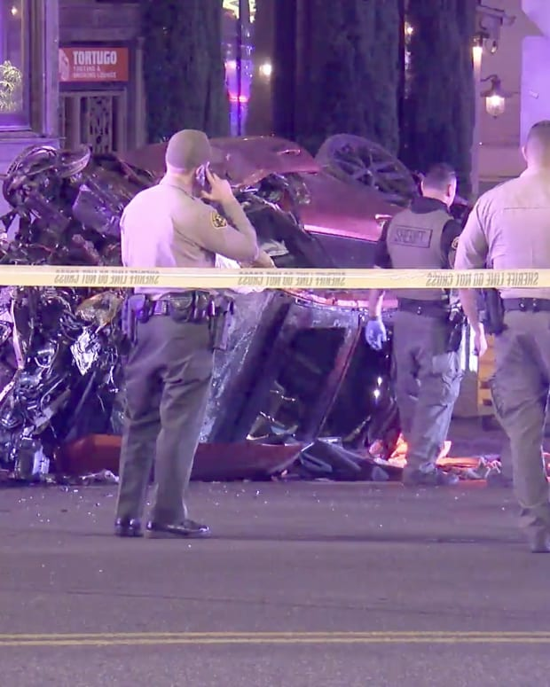 West Hollywood High-Speed Crash at Sunset and Holloway