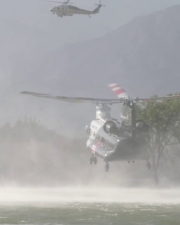 Santa Fe Dam Fire Fougt by Air and Ground