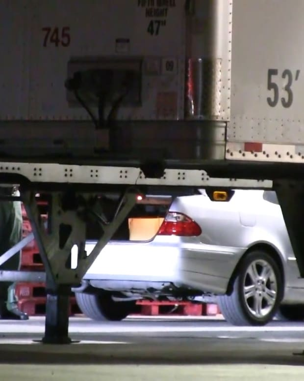 Suspect's Vehicle Found Behind Costco in Santa Clarita
