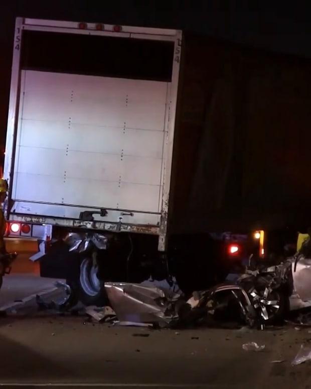 Vehicle Collision with Big Rig Decapitates 2 People on 5 Freeway