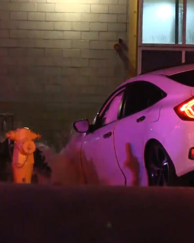 Vehicle Crashes into Hydrant in Newhall Early Sunday Morning
