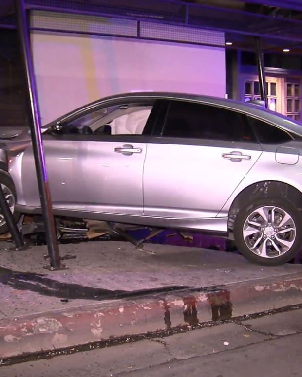 Highland Park Pursued Vehicle Found Crashed into Building