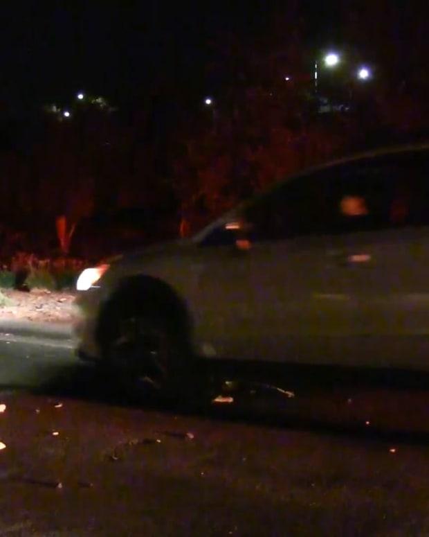 Hit-and-Run Single Vehicle Crash in Newhall Sunday Night