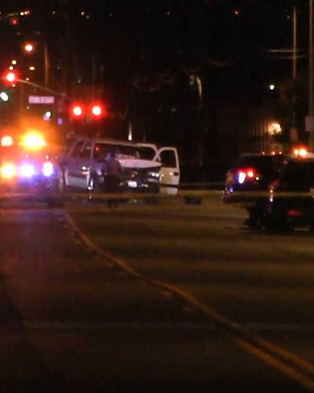 Pursuit Suspect Crashes Head-On into LASD Vehicle