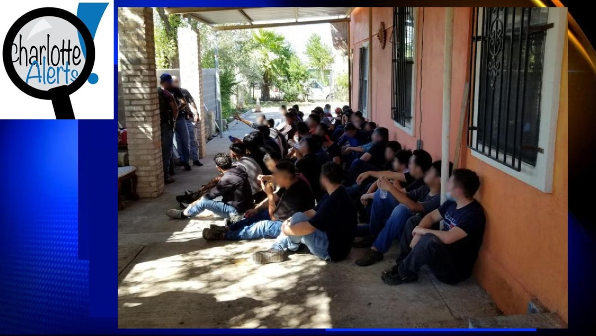 Border Patrol discovers individualsat a stash house.
