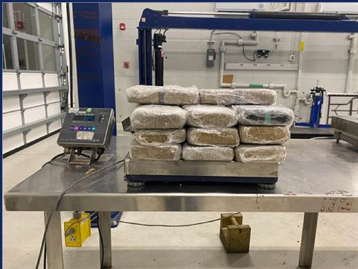 Packages containing 49 pounds of cocaine